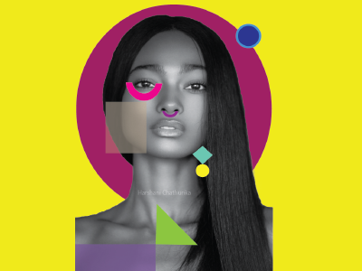 Geometric shapes over the face illustrator brand face shapes illustrator blackgirl