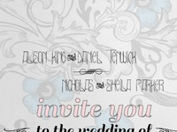 Wedding Invitation for a close friend