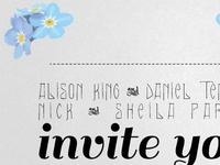 Finalised Wedding Invitation