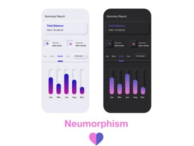 Neumorphism Report Design