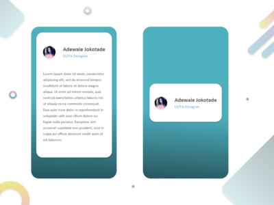 Profile Card Screen