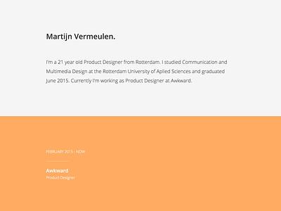 Portfolio website web ui redesign portfolio personal orange minimal flat design clean branding