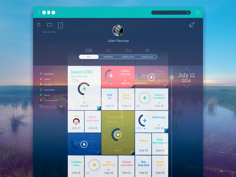 Inspirasi #29 - UI / UX Design To - Do Web & App