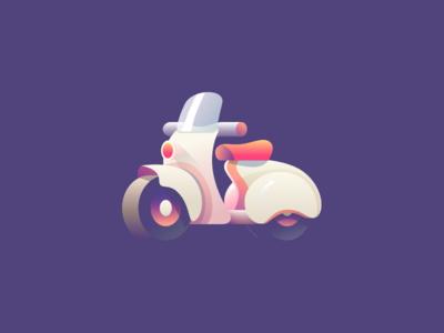 Motor motorcycle motor illustration flat