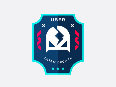 UBER LatAM Growth Badge wrestling mask latam uber sticker badge