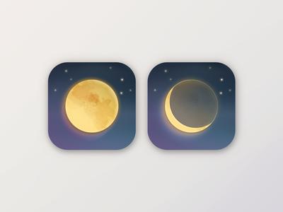 Daily UI #005 App Icon lunar moon app icon daily ui 005 daily ui ui daily