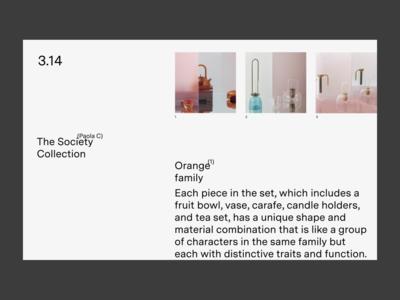 3.14 — Gallery minimal interface website web ui typography design