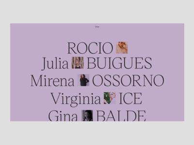 Women – Index minimal interface website web ui typography design