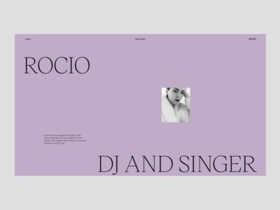 Women – Interview *Rocío minimal interface website web ui typography design