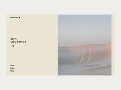 Open flash — 01 photography photographer minimal interface website web ui design