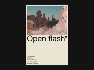 Open flash — Poster photo photography poster print branding typography design
