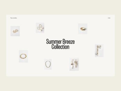 Summer Breeze — 01 ecommerce minimal interface website web ui typography design