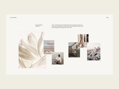 Summer Breeze — 03 photography fashion minimal interface website web ui typography design