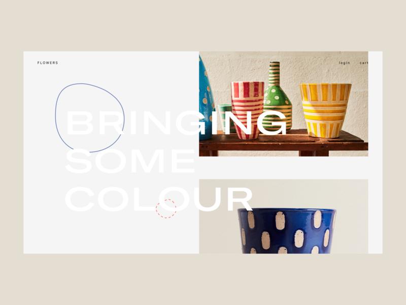 Gardening — 02 ecommerce interface website web ui typography design