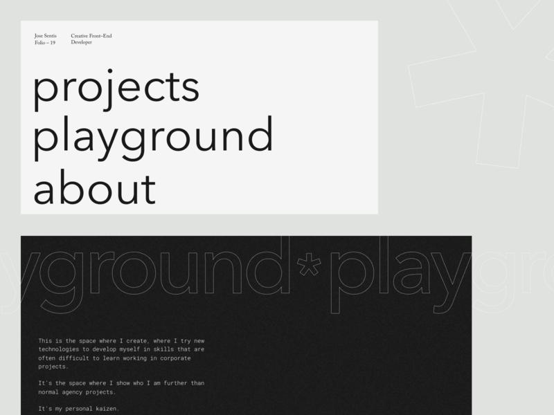Jose Sentís — 01 frontend developer portfolio interface website web ui typography design