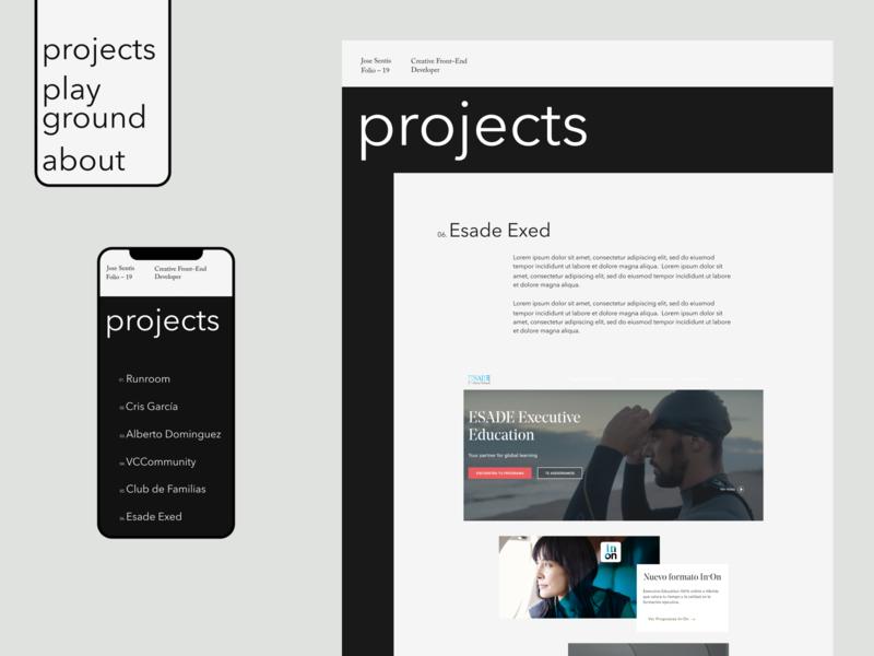 Jose sentis — 03 portfolio mobile website web ui typography design