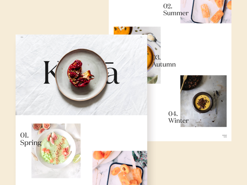 Kōnā — 01 website web ui typography design