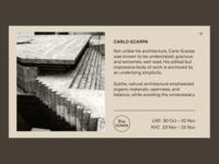 Carlo Scarpa Exhibition.