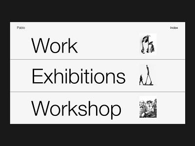 Gargallo Index minimal interface website web ui typography design