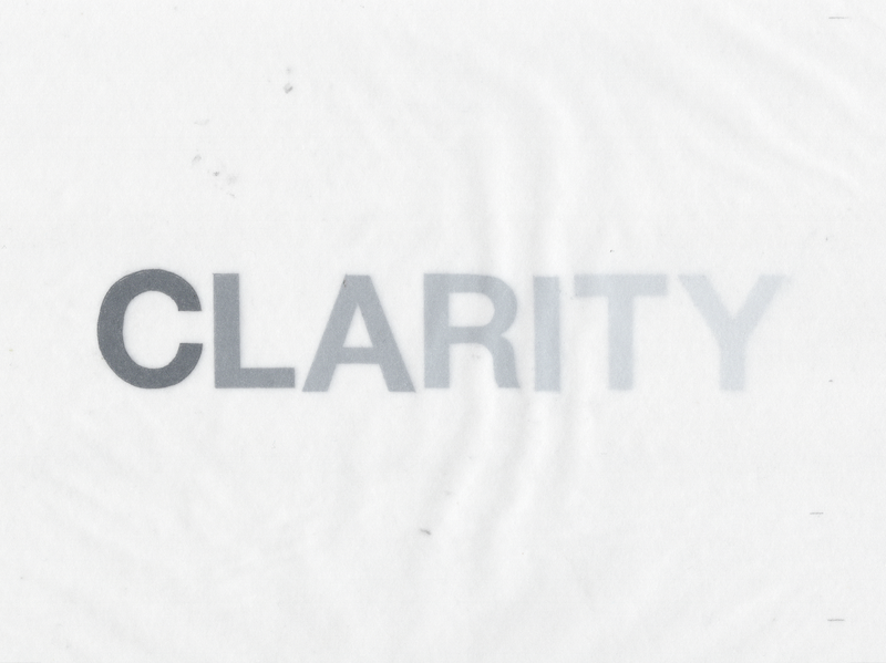 CLARITY TYPE SKETCH
