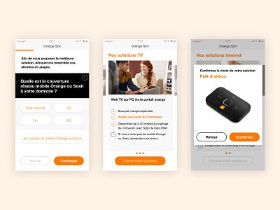 Mobile UI uxui mobile app telecoms