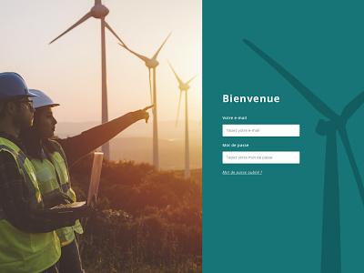 Green MOOC - Login Page uxui design web website banking