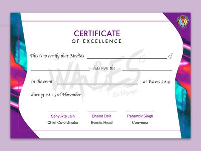 Fest Certificate Concept texture certificate