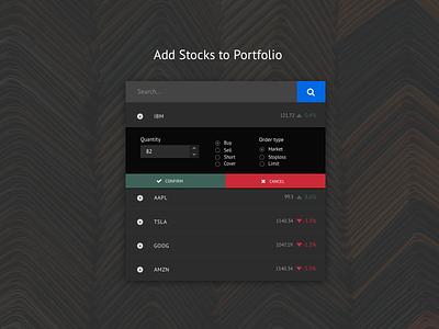 Fast Stock Input Widget