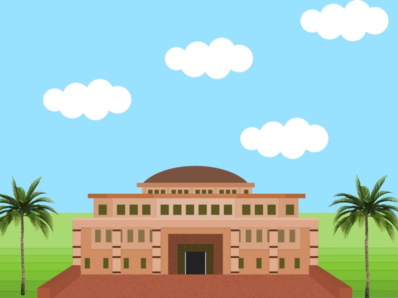 Architecture Illustration campus civilization monument artwork illustraion vector art building architecture