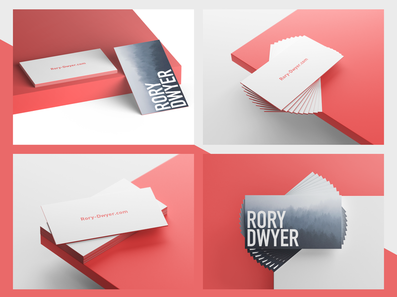 Business Cards Idea graphic mockup typogaphy business card design