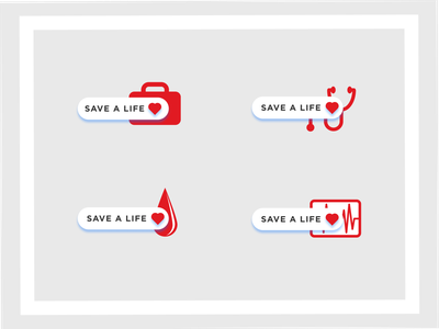 Save A Life Icons iconography heart life save a life illustration health american hospital red cross icon set icon design