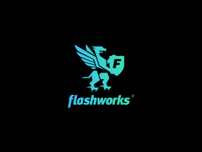 Flashworks logo shield strong eagle turul phoenix logo flashworks.hu flashworks