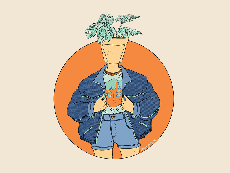 Jean Jacket Pothead color pop art photoshop digitalart graphic digital art artwork illustration design art