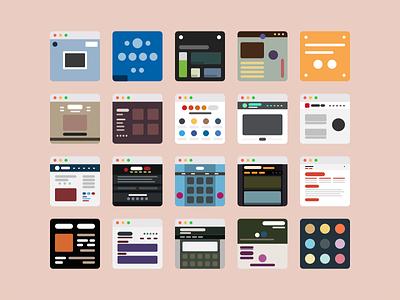 Portfolio Icons flat browser iconset icon portfolio
