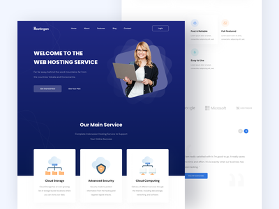 Hostingan - Landing Page ux uiux ui homepage design simple inspiration clean minimalist elegant website landing page homepage web pages design web design hero business web hosting hosting service hosting