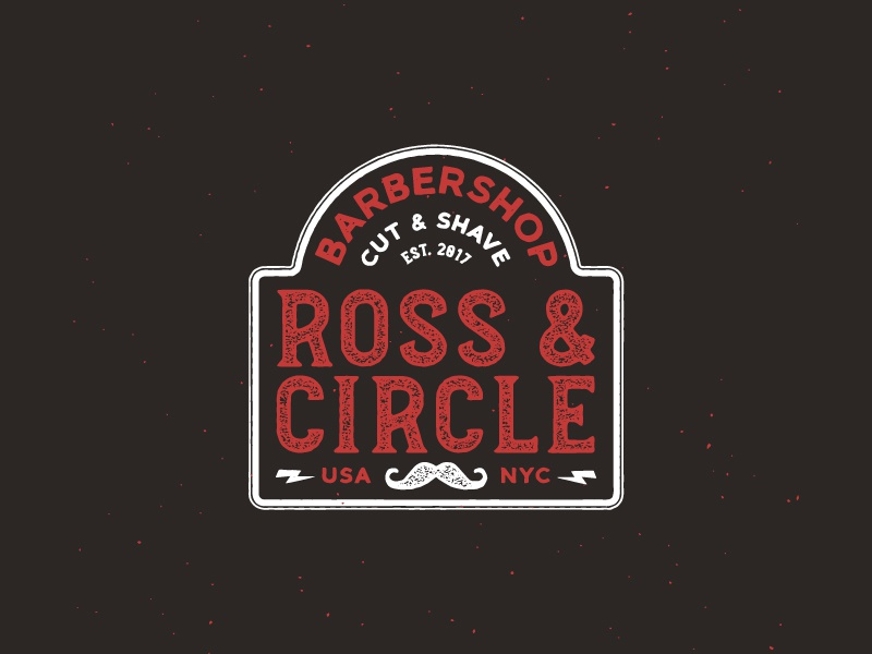Daily Logo Challenge: Day 13 daily logo challenge illustration vector icon lettering barbershop typography branding logo