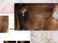 Traditional jewelry webdesign