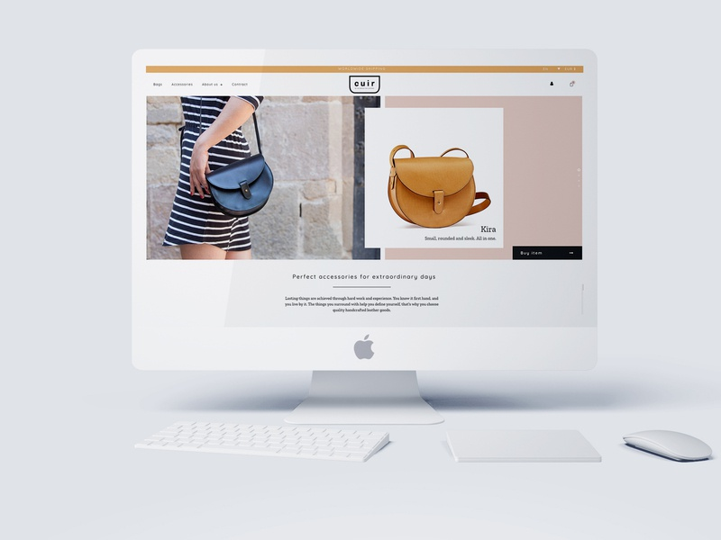 Ecommerce for a crafting leather goods brand woocommerce ecommerce webdesign wordpress