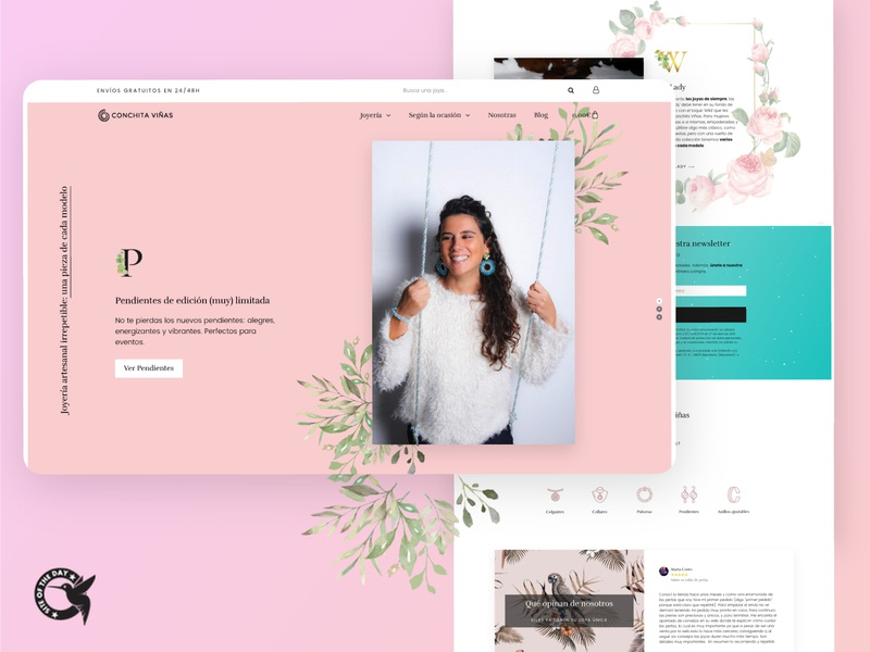 Ecommerce for a divine jewelry brand webdesign woocommerce elementor wordpress ecommerce