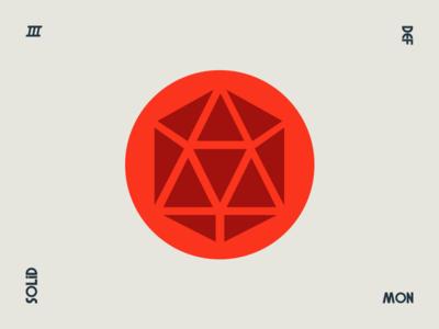 Solid geometry style logo identity branding