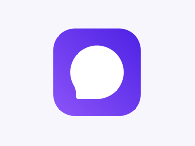 Chat App Logo icon ios branding message talk logo chat