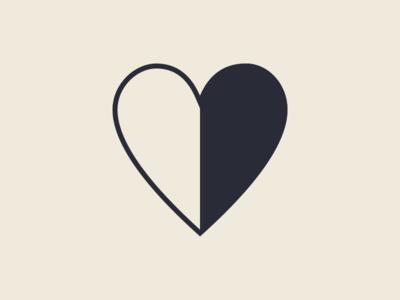 Harm identity mark heart art harm branding logo