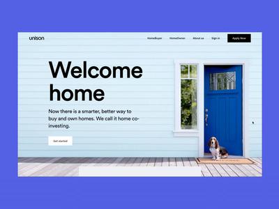 Unison Homepage uxui web  design unison