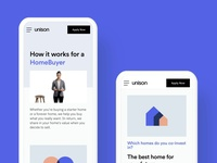 Mobile web How It Works pages