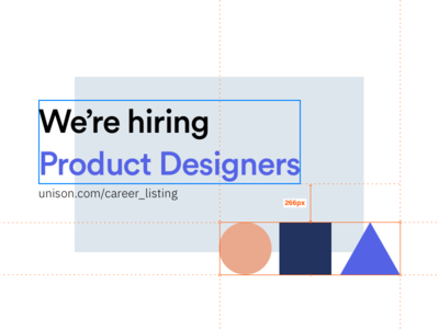 Unison is hiring! design uxui ux  ui ux were hiring hiring product design