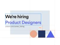 Unison is hiring!