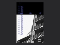 This is it - Poster Series 02