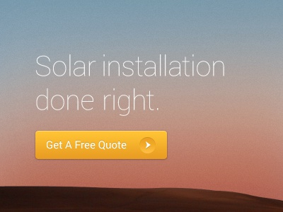 Solar installation done right. solar installation sun gradient yellow button thin image dimension website client