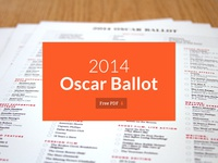 2014 Oscar Ballot — Free Download