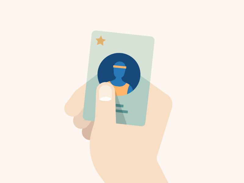 Membership Card Illustration card hand illustration